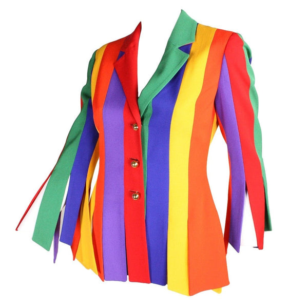 Moschino Jacket 1990's Color Blocked Vintage - regenerationvintageclothing