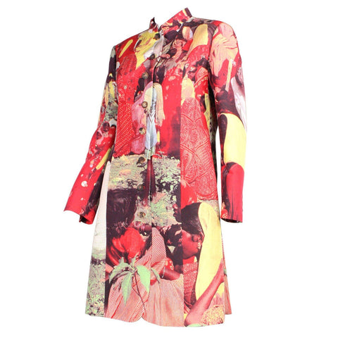Moschino Coat 1990's with Photo Realistic Print Vintage - regenerationvintageclothing
