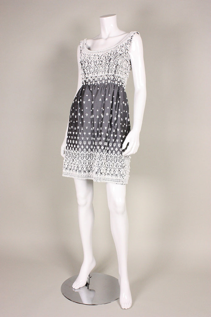 Vintage Dresses - Vintage 1960's Cocktail Dress with Hand-Beading