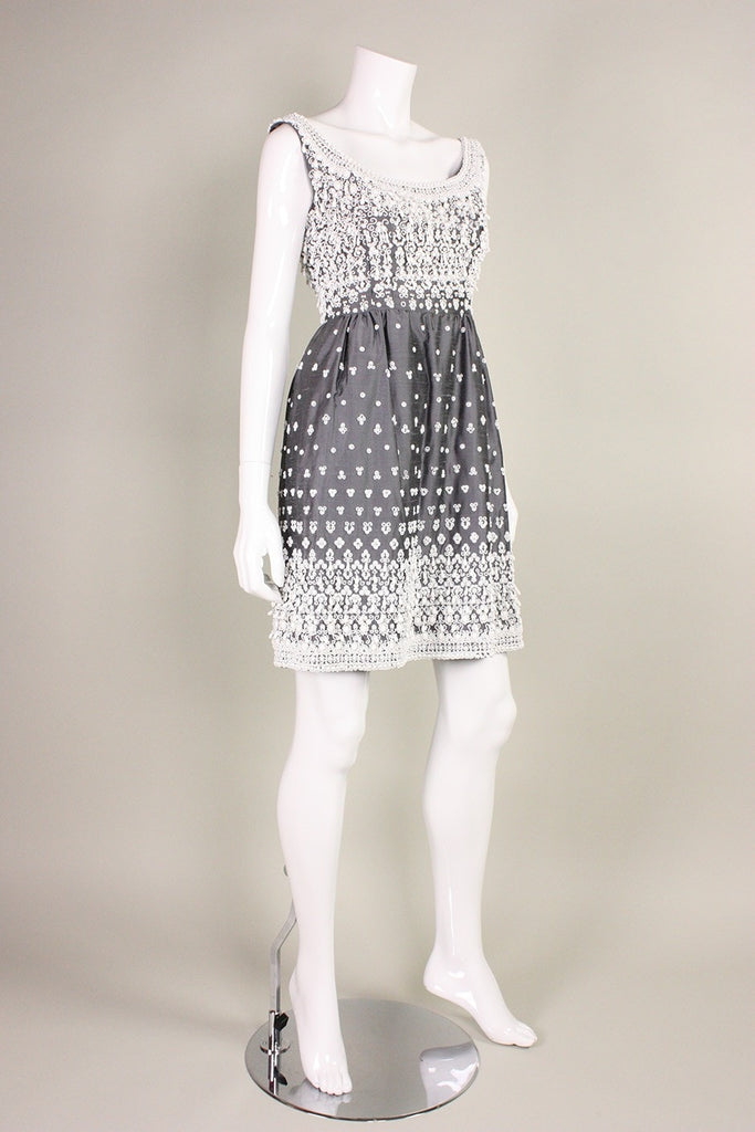 1960's Cocktail Dress with Hand-Beading Vintage - regenerationvintageclothing