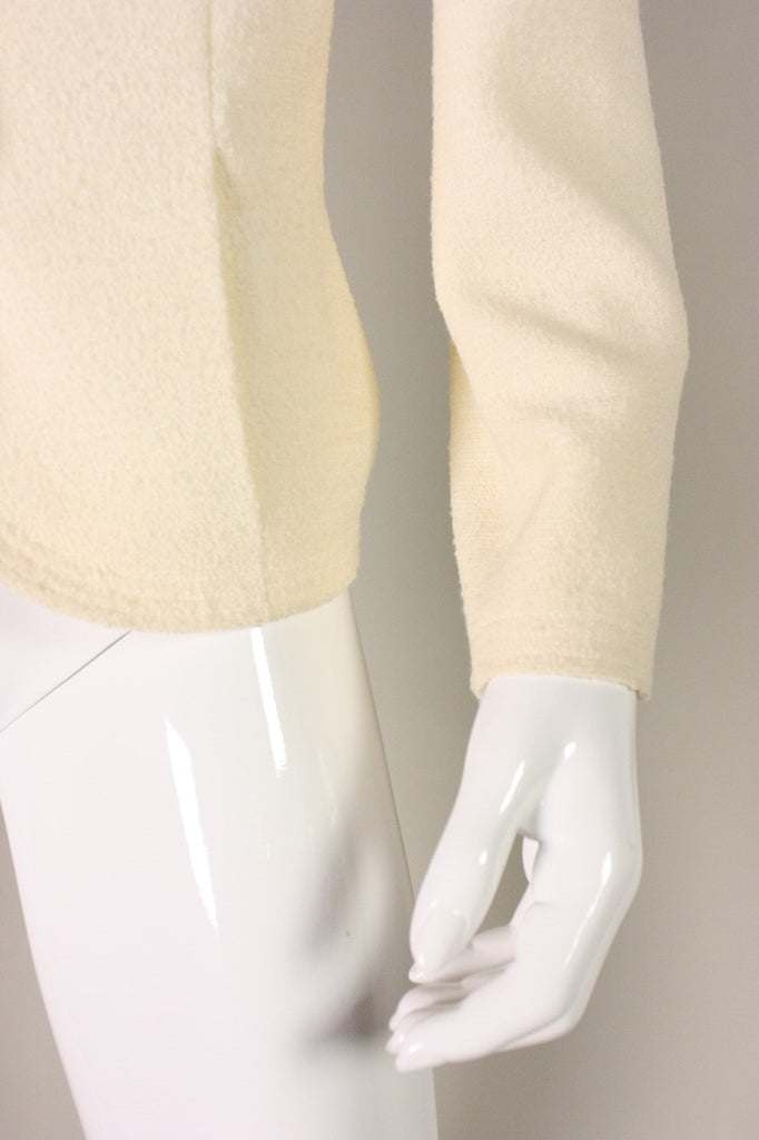 Vintage 1980's Cream Chanel Boucle Jacket