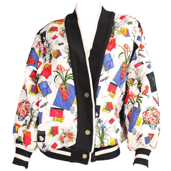 Vintage Clothing: 1980's Chanel Colorful Quilted Jacket
