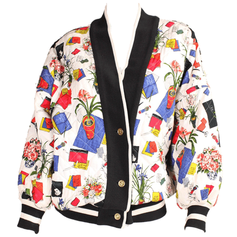 Chanel Jacket 1980's Colorful Quilted Vintage - regenerationvintageclothing