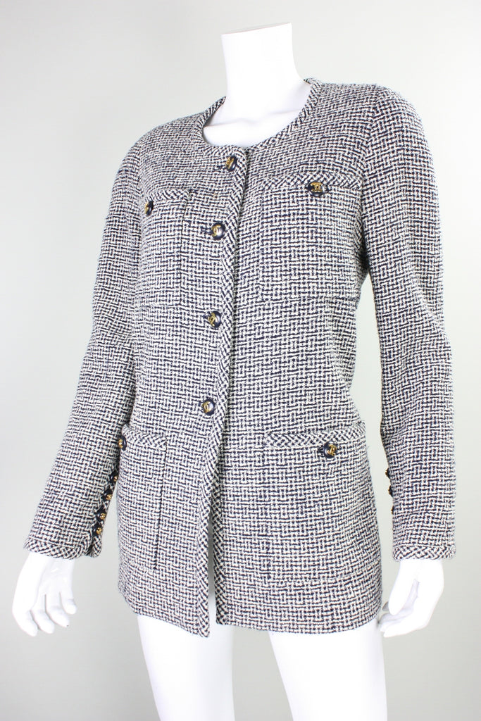Chanel Jacket 1980's Wool Bouclé Vintage - regenerationvintageclothing