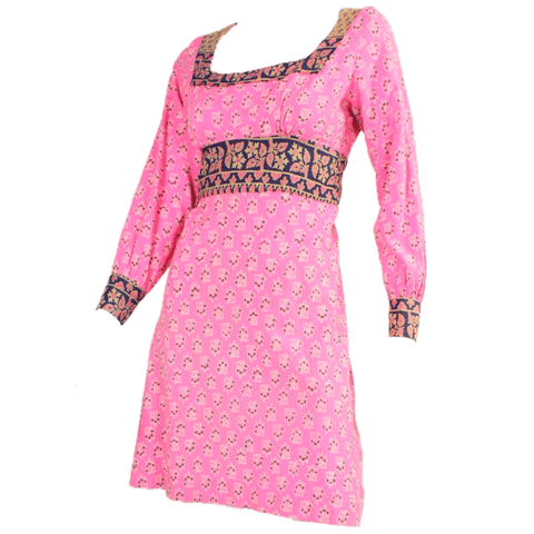 1970s Dress Bubblegum Pink Vintage - regenerationvintageclothing