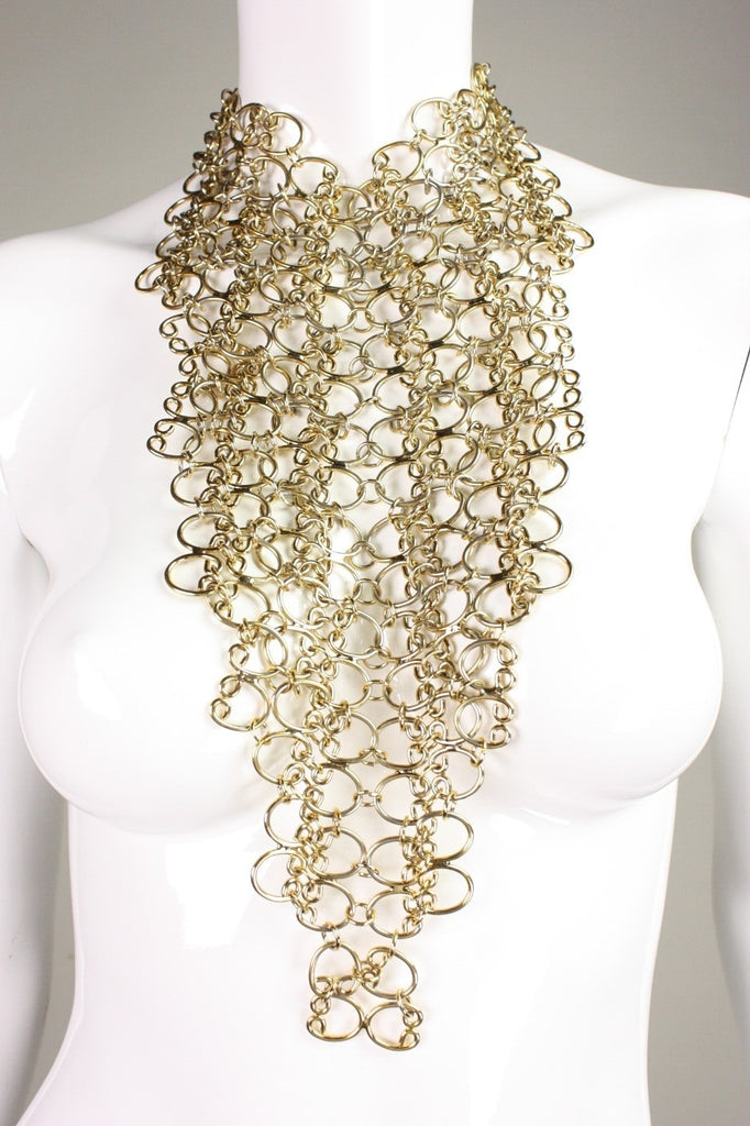 Pauline Trigère Necklace 1960's Massive Statement Bib Vintage - regenerationvintageclothing