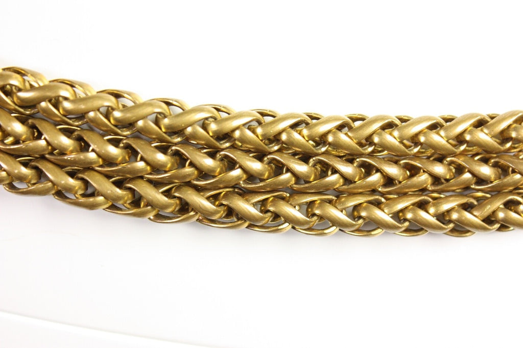 Chanel Belt Gold-Toned Chain with Gripoix Vintage - regenerationvintageclothing