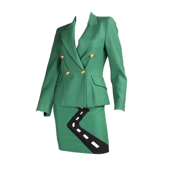 Vintage Clothing: 1990's Moschino Suit with Humorous Applique