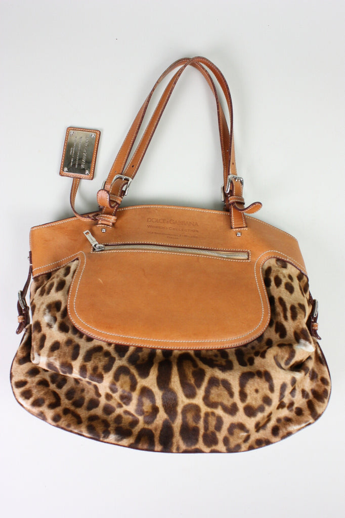 Dolce & Gabbana Tote Miss Adventure Pony Hair Vintage - regenerationvintageclothing
