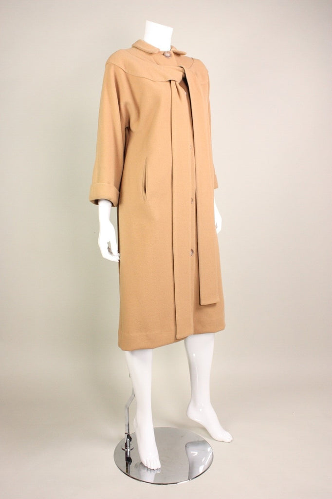 Rudi Gernreich Coat 1950's for Walter Bass Wool Vintage - regenerationvintageclothing