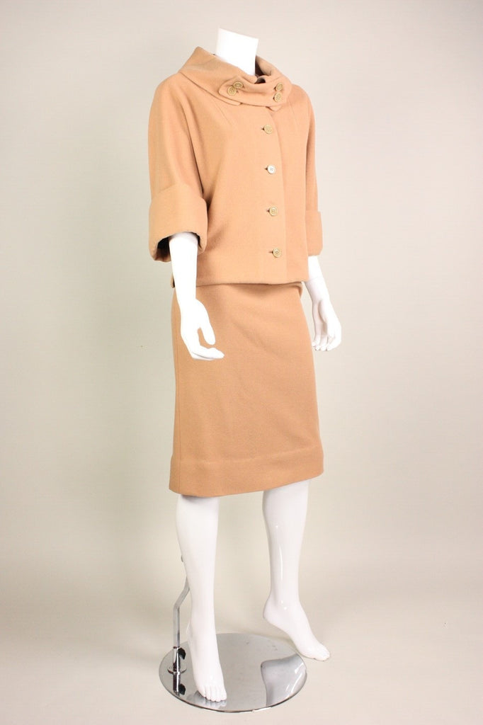 Vintage 1950's Rudi Gernreich for Walter Bass Wool Skirt Suit