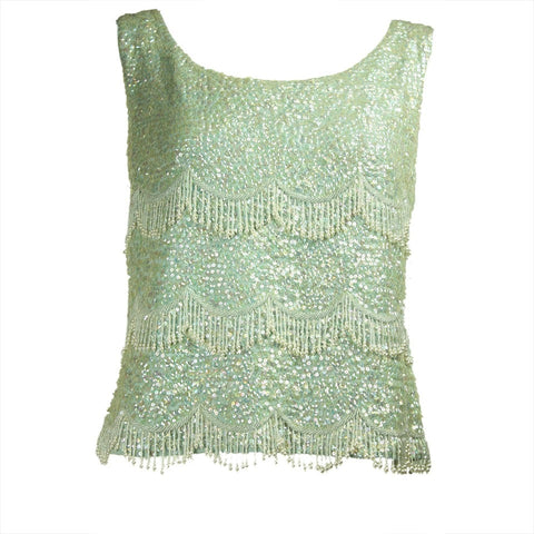 Vintage Vintage Clothing: 1950's Baby Blue Beaded & Sequined Sweater