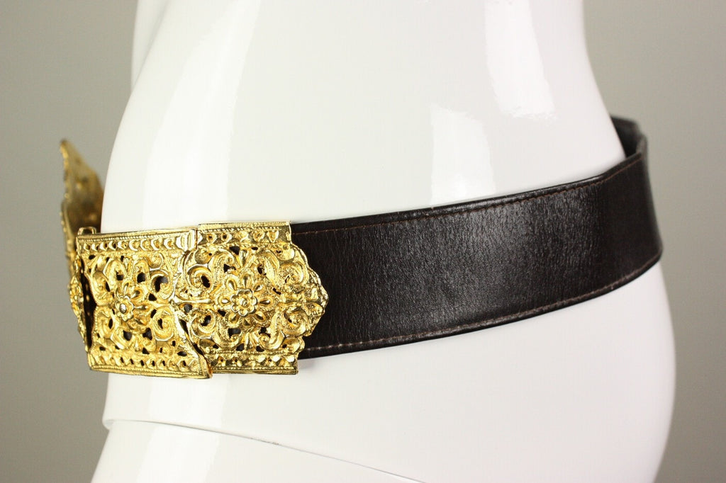 Roberta di Camerino Belt 1970's with Large Buckle Vintage - regenerationvintageclothing