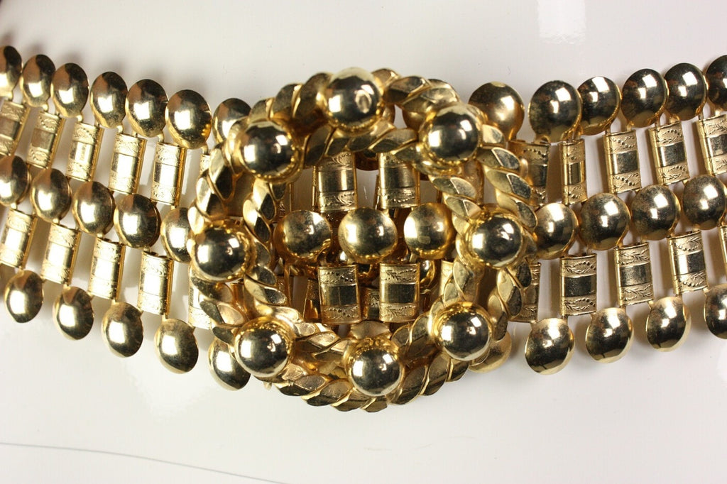 1970's Belt Gold-Toned Wide Chain Vintage - regenerationvintageclothing