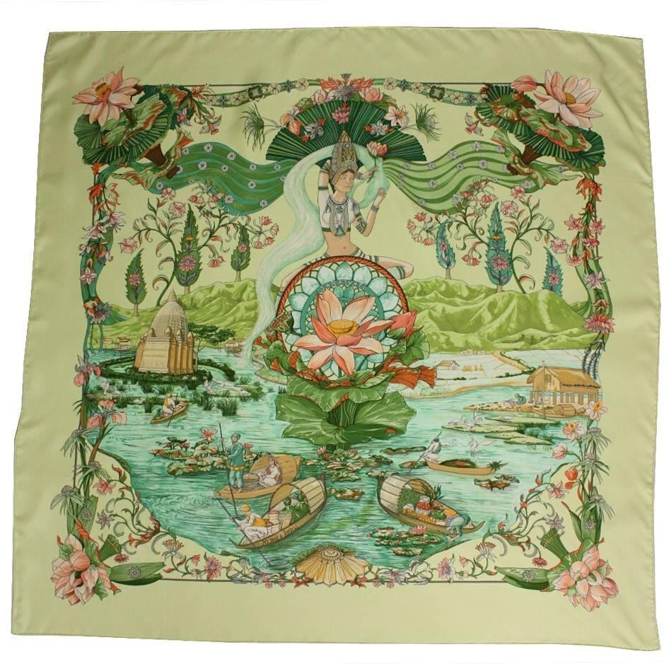 Vintage Clothing: Hermes Silk Twill Scarf