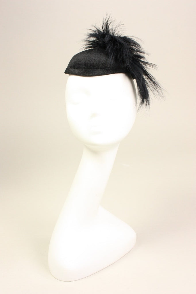 Vintage Philip Somerville Hat with Plume Vintage - regenerationvintageclothing