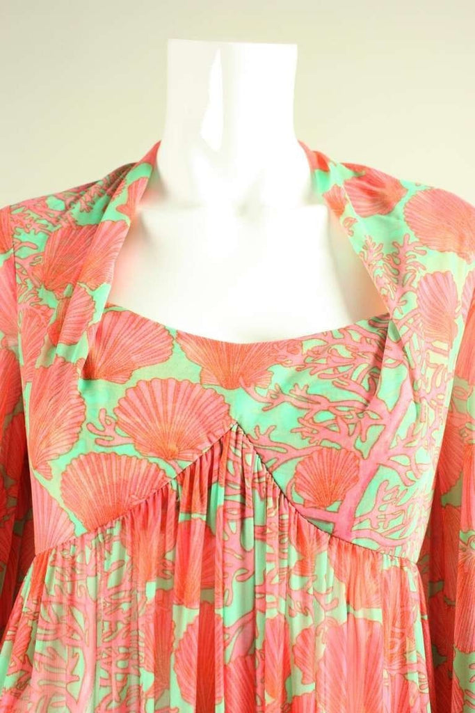Robert-David Morton Dress 1970's Seashell Vintage - regenerationvintageclothing