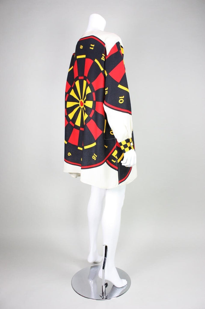 Moschino Blouse 1990's Graphic Dartboard Vintage - regenerationvintageclothing