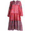 Vintage Clothing: 1970's Indian Gauze Screenprinted Bohemian Dress