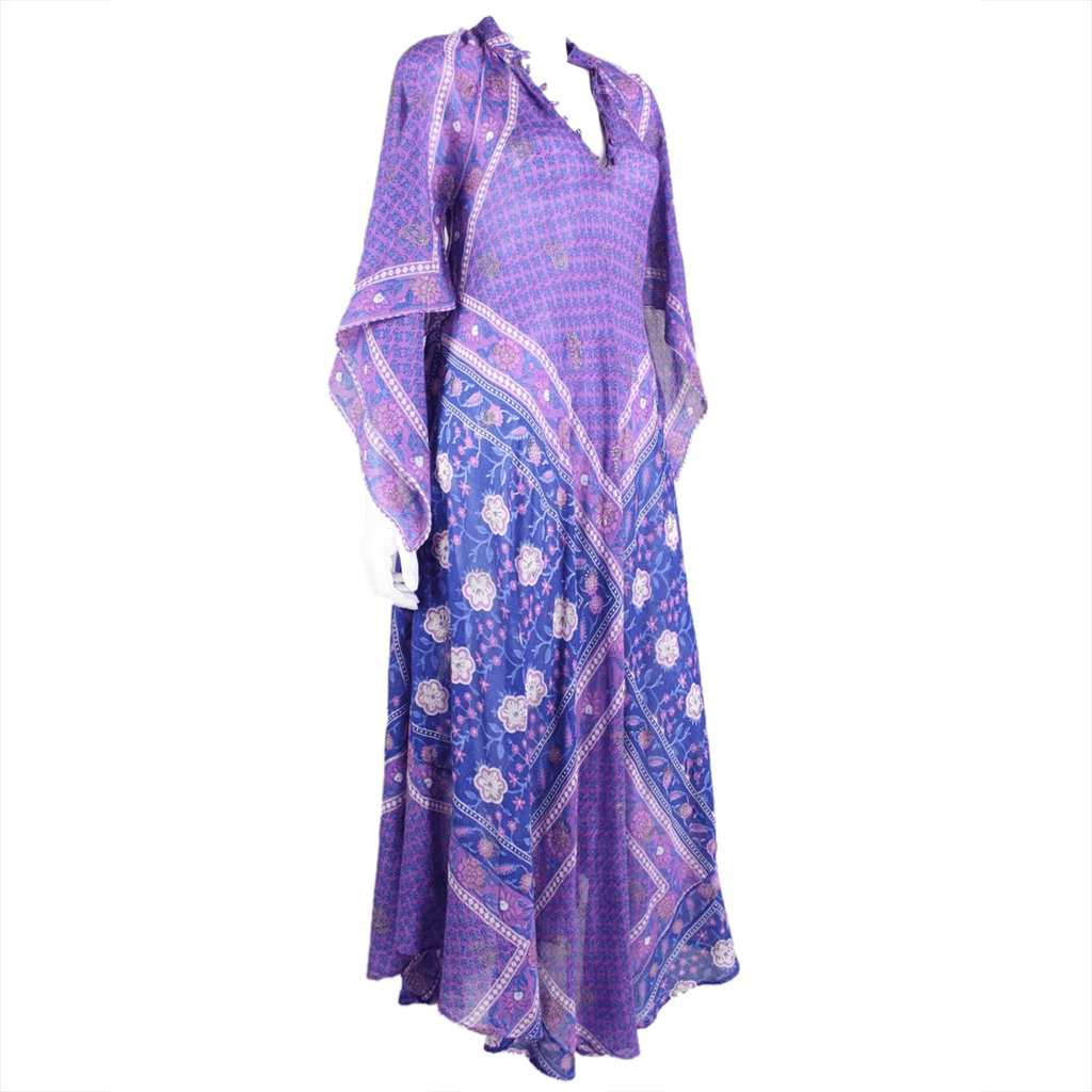 Vintage Clothing: 1970's Angel Wing Indian Festival Maxi Dress