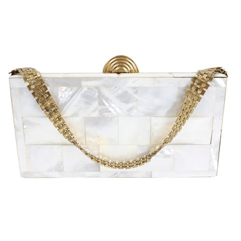 Vintage Clothing: 1950's Dorset Mother of Pearl Box Handbag & Accessories