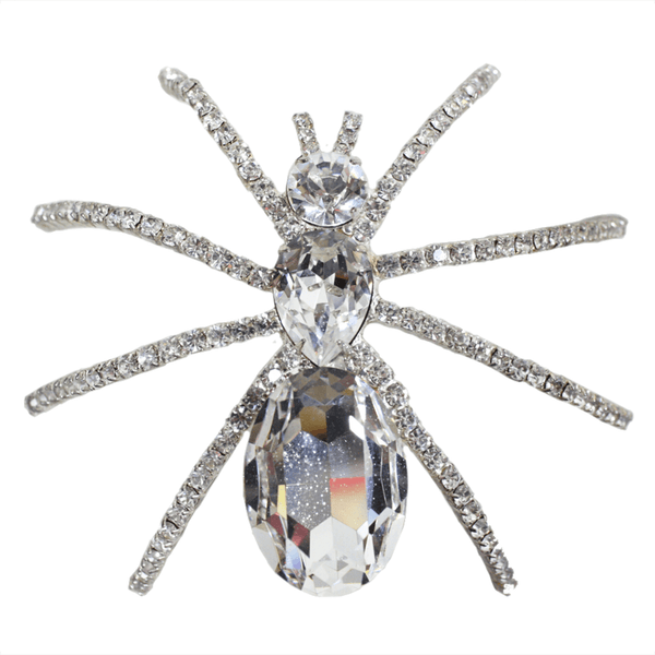 Vintage Jewelry: 1960's Extra Large Spider Rhinestone Brooch