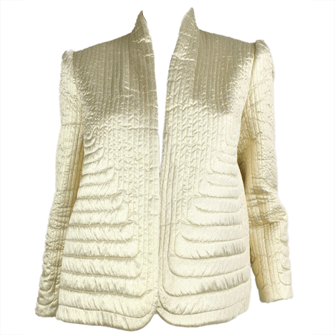 Vintage Clothing: 1980's Gold Trapunto Quilted Jacket