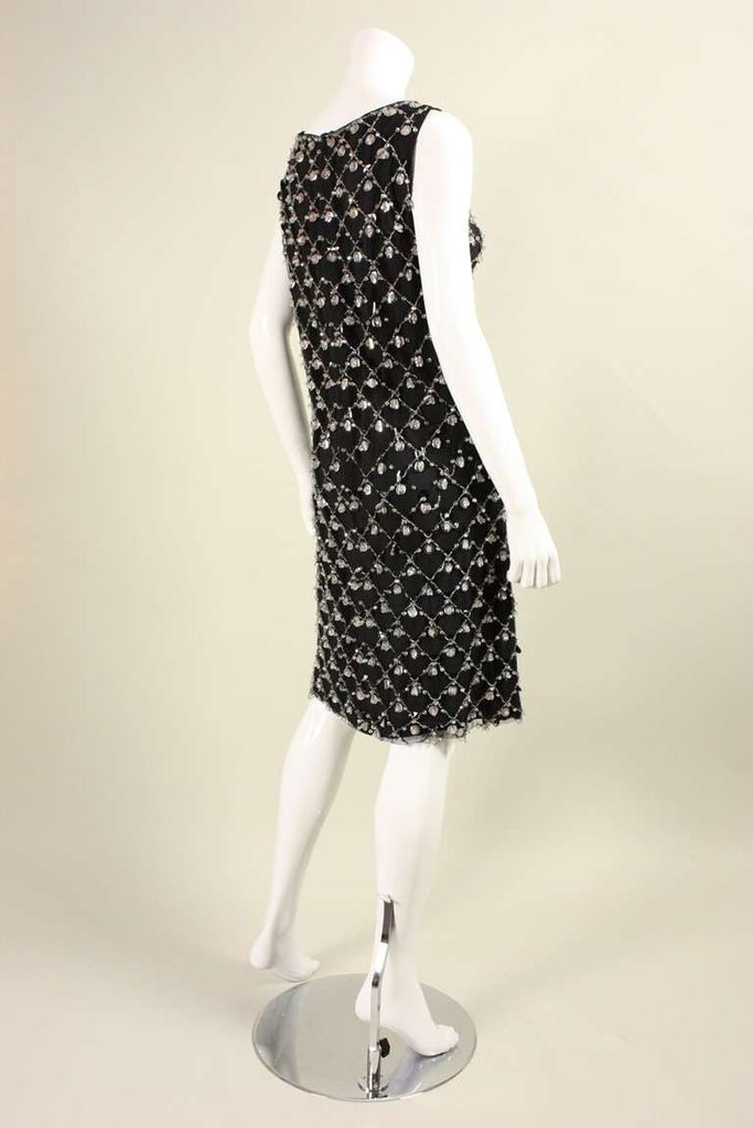 1960's Cocktail Dress with Beading Vintage - regenerationvintageclothing