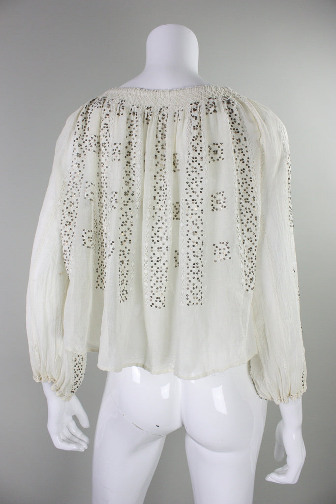 1930's Eastern European Gauze Peasant Blouse