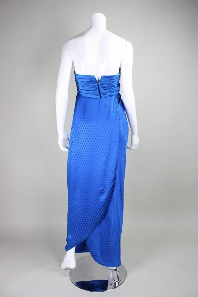 Ungaro Gown 1980's Royal Blue Silk Vintage - regenerationvintageclothing