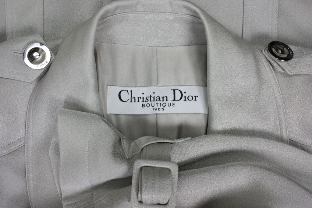 Christian Dior Trench Coat 1990's Silk Vintage - regenerationvintageclothing