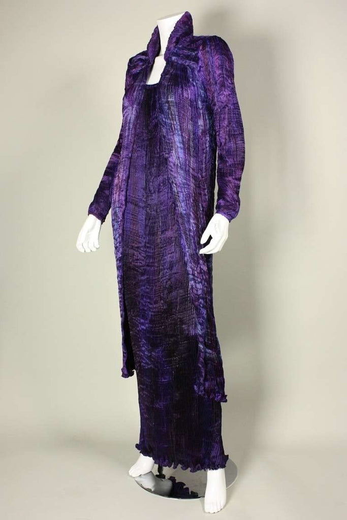 Vintage 1990's Patricia Lester Pleated Gown & Coat