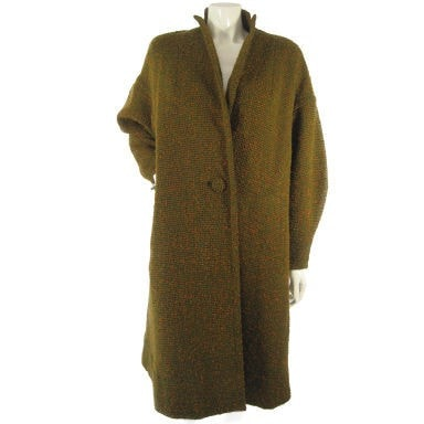 1950's Swing Coat Don Loper Tweed Vintage - regenerationvintageclothing
