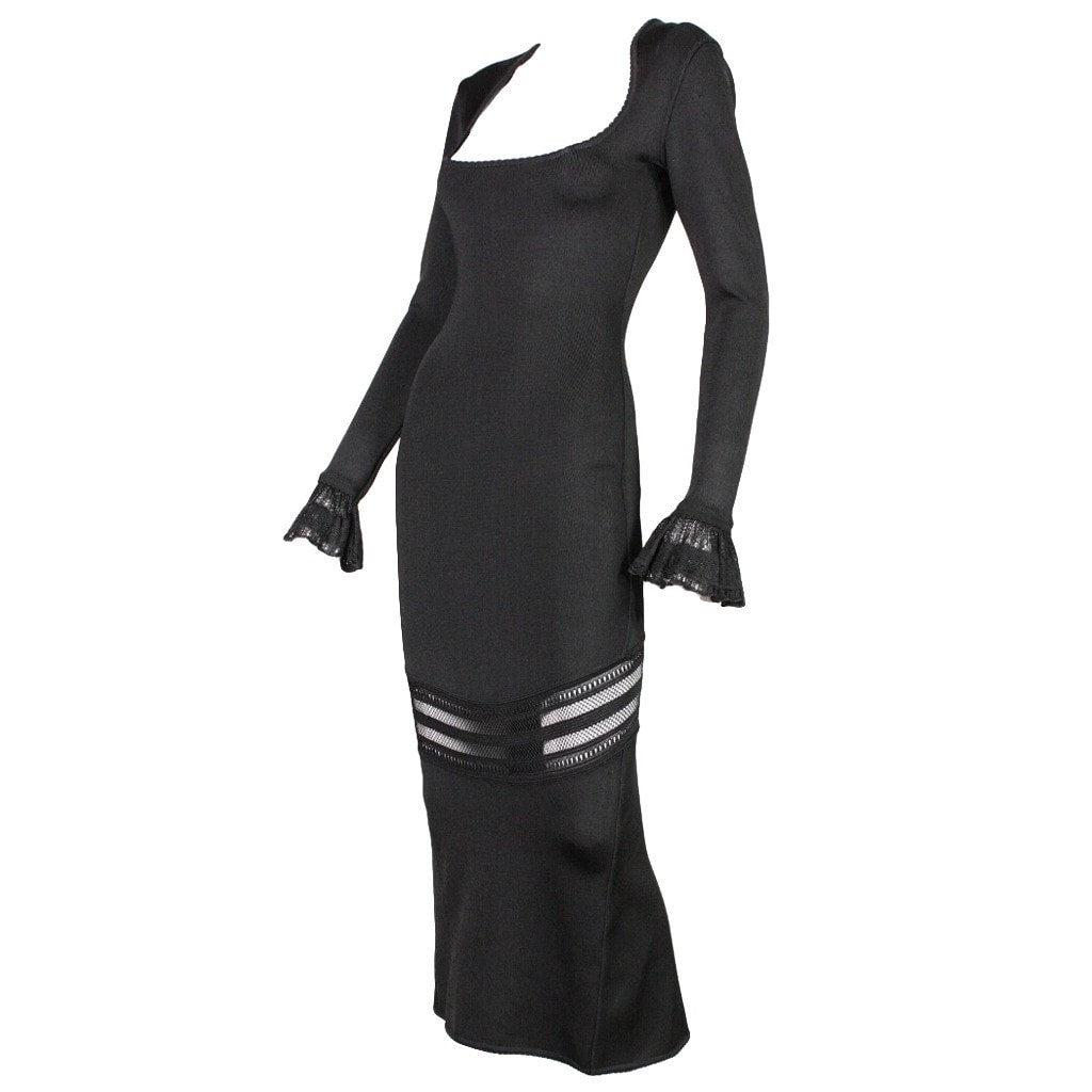 Vintage Clothing: 1990's Alaia Dress with Transparent Panel