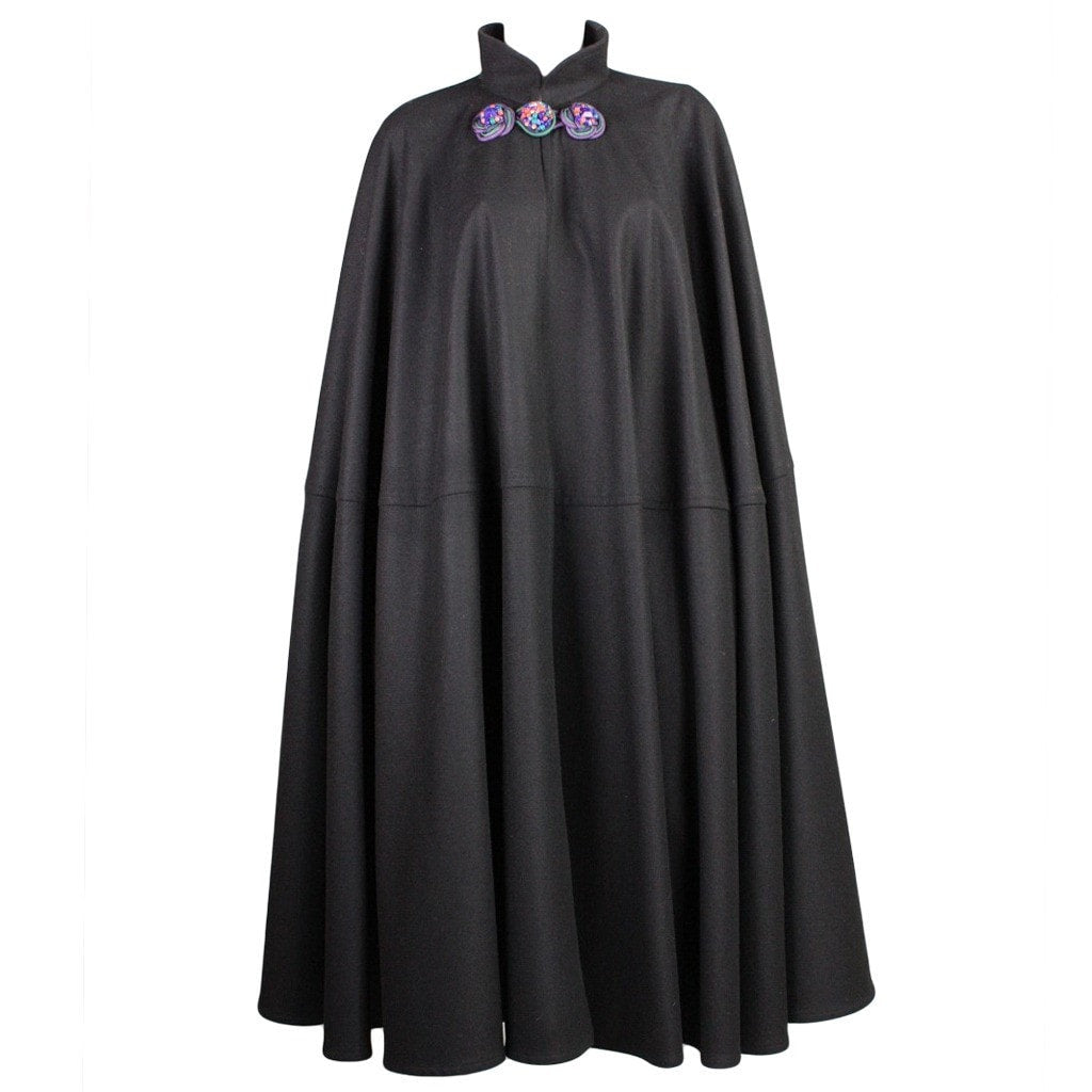 Vintage Clothing: 1970's Yves Saint-Laurent Black Wool Cape