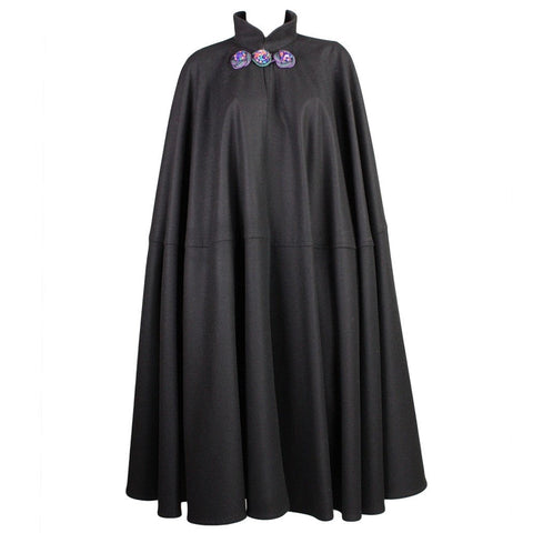 Yves Saint-Laurent Cape 1970's Black Wool Vintage - regenerationvintageclothing