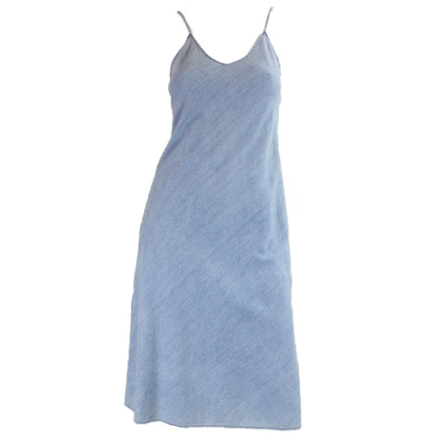 1970's Dress Bias Cut Chambray by Jag Vintage - regenerationvintageclothing