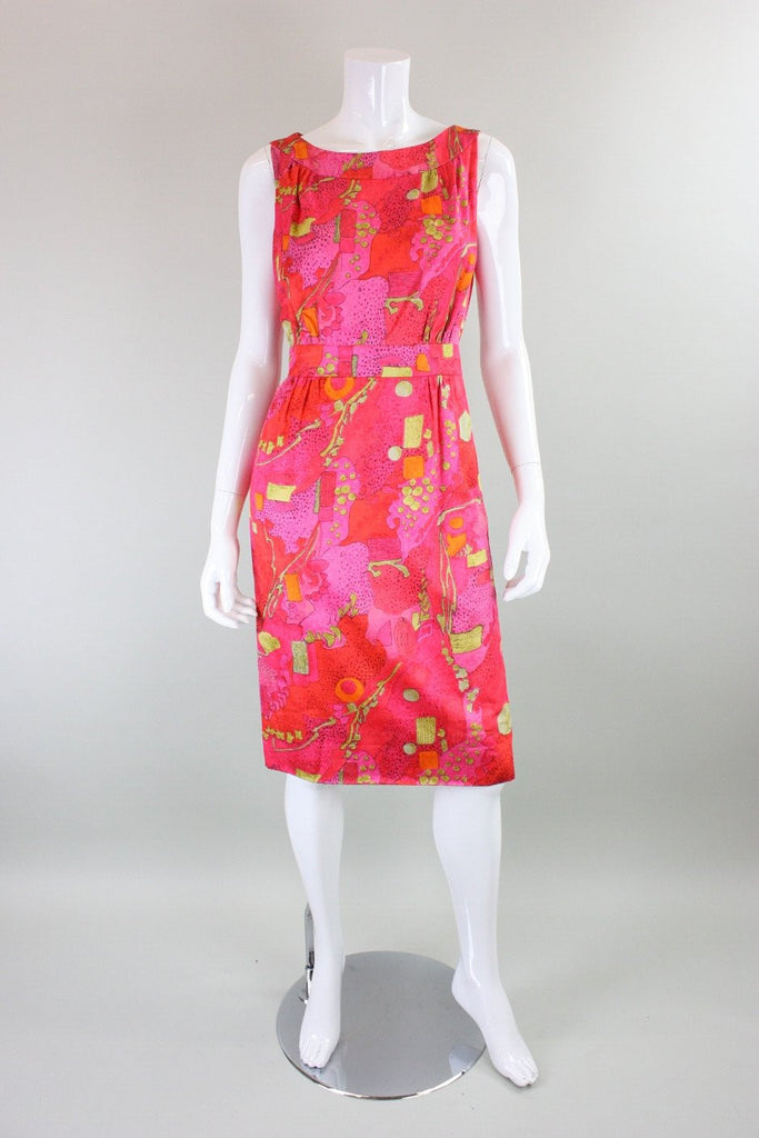 1960's Day Dress with Abstract Print Vintage - regenerationvintageclothing