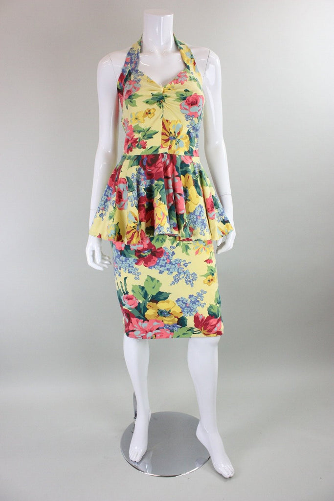Vintage 1980's Betsey Johnson Punk Label Jersey Dress