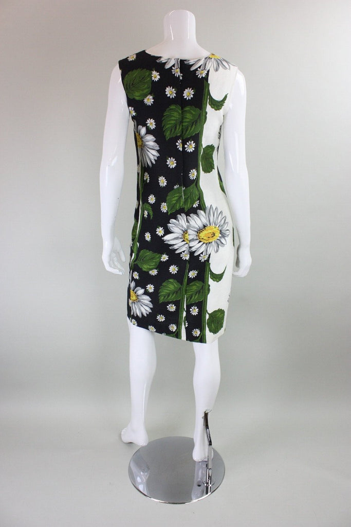 1960's Dress with Daisy Floral Print Vintage - regenerationvintageclothing