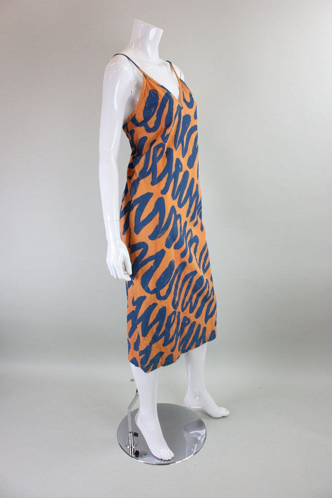Vintage 1980's Bis Bis Cotton Dress with Graffiti Print