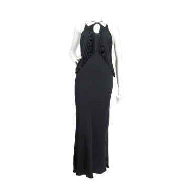 Vintage Clothing: 1990's Jean-Paul Gaultier Bias Cut Gown with Pleated Bust