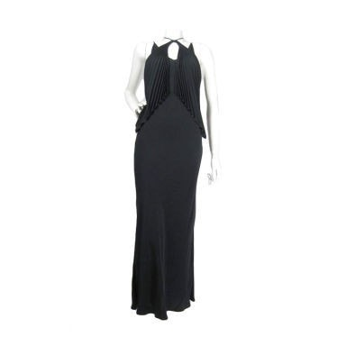 Jean-Paul Gaultier Gown 1990's Bias Cut with Pleated Bust Vintage - regenerationvintageclothing