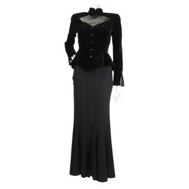 Vintage Clothing: 1990's Thierry Mugler Evening Ensemble