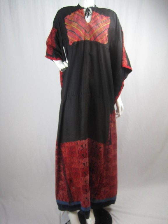 Vintage 1900's Antique Bedouin Embroidered Dress