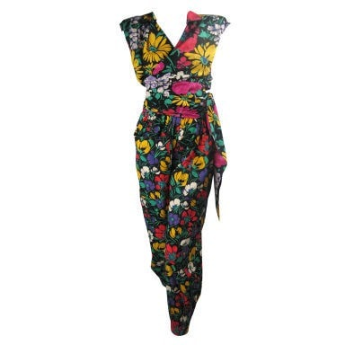Vintage Clothing: 1980's Ungaro Floral Cotton Ensemble