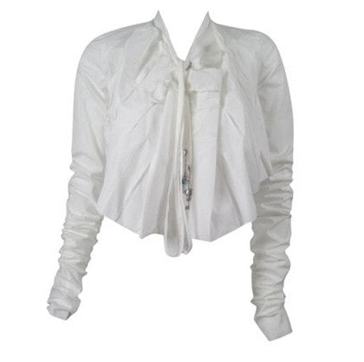Vintage 1990's Jean-Paul Gaultier Asymmetrical Cotton Poplin Blouse