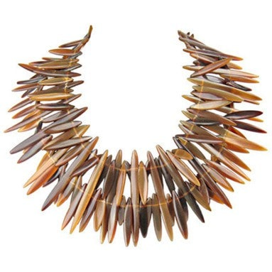 Vintage Clothing: 1980's Gerda Lynggaard for Monies Dramatic Horn Necklace