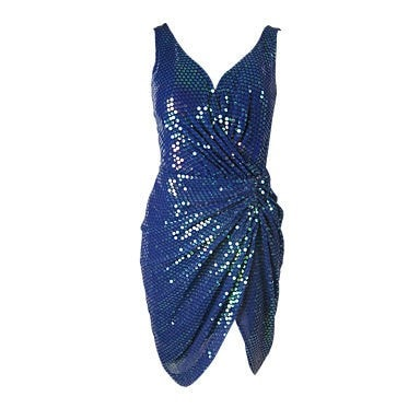 Vintage Clothing: 1990's Vicky Tiel Couture Sequined Dress