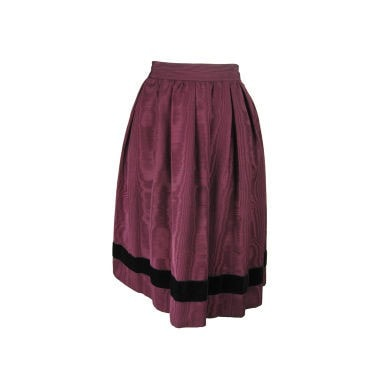 Yves Saint-Laurent Skirt 1970's Moiré Vintage - regenerationvintageclothing